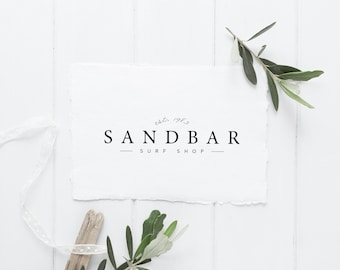 premade logo design · clean typography · minimalist logo · small business branding · established logo · store logo design · photography logo