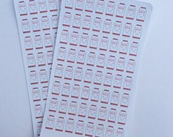 Kawaii milk stickers