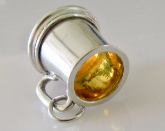 Large Silver Beer Tankard Charm