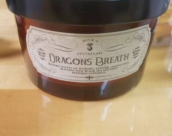 Dragon's breath candle, Halloween candle, potions and exilirs.