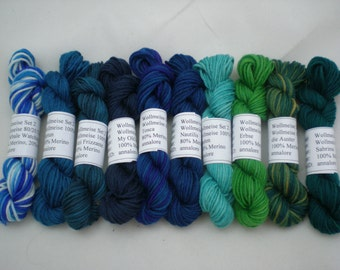 Mini Skeins - Wollmeise Pure and Twin 6g set of 10 (set 2)