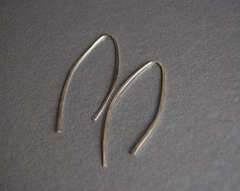 Sterling Wishbone earrings