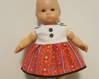 Bitty Baby Bitty Twin Doll Clothes - Black and White Print Dress