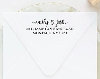 Return Address Stamp, Custom Stamp, Housewarming Gift, Self Inking, Wooden, Self Ink, Wedding, Rubber Address Stamp Custom, Engagement Gift