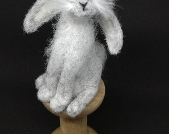 OOAK Needle Felt Grey Hare