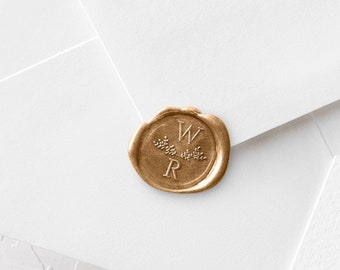 Wax Stamp Kit - Initials With Double Laurels - Includes Sealing Wax Sticks (208)
