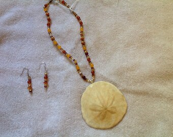 Sand dollar beaded necklace
