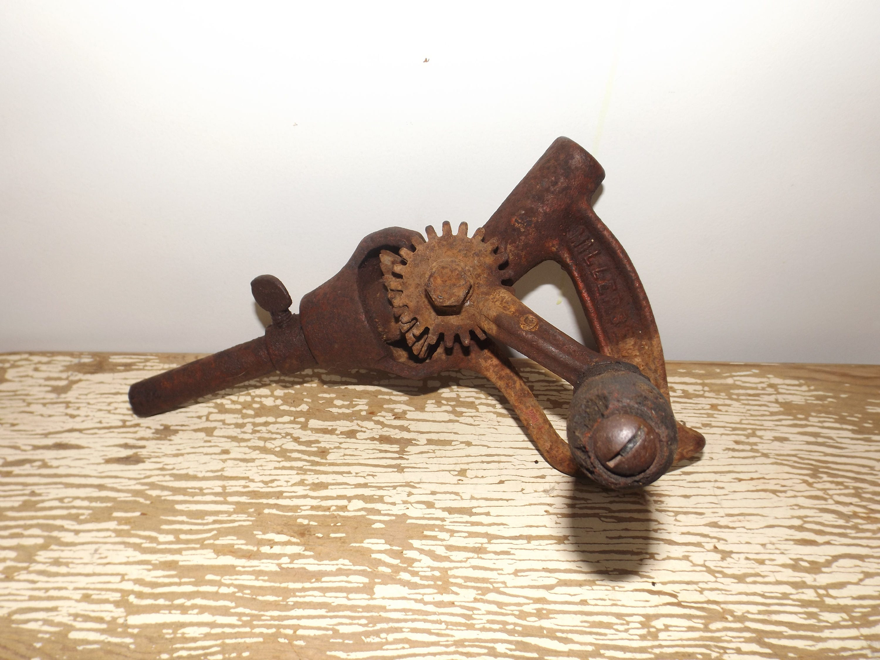 Antique plumbing tool,vintage drain cleaning rod handle,rusty tools ...