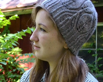 Hat Knitting PATTERN PDF, Knit Hat Pattern, Beanie Hat Knitting Pattern, Toque Hat Pattern - Autumn Flora Hat