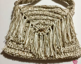Crochet Boho Bag~Ready to Ship~FREE SHIPPING