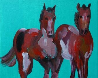Horse, original acrylic painting