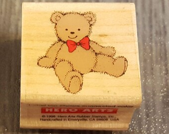 Tiny Teddy Bear Rubber Stamp from Hero Arts