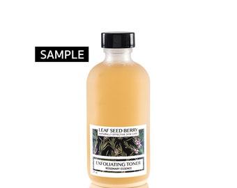 SAMPLE Exfoliating Rosemary Facial Toner, Mens Skincare, Organic Face Toner, Mens Toner, Herbal Toner, Exfoliation, Dry Skin Toning