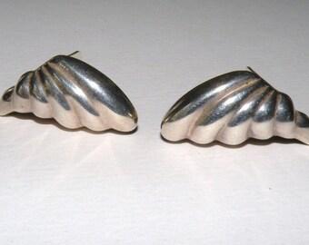 Italian Sterling Silver Clip Earrings