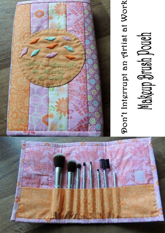 Don't Interrupt Makeup Brush Pouch Pattern