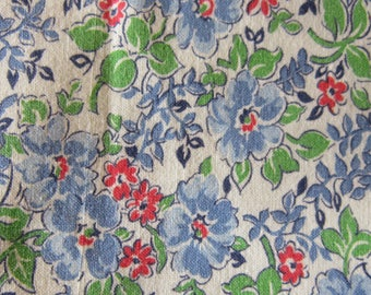 """vintage feedsack fabric 37"""" by 37"""" nice old fabric"""