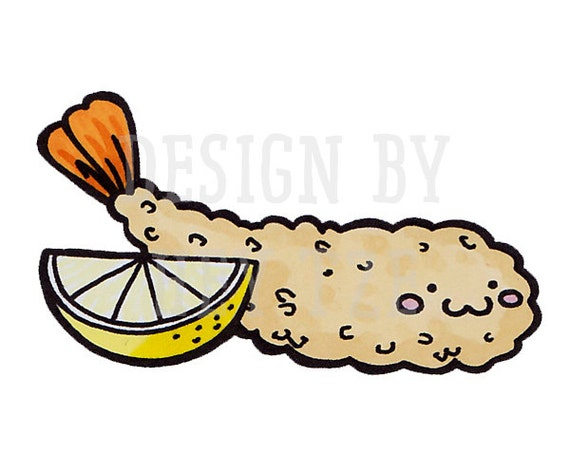items similar to fried shrimp digital stamp license included on etsy rh etsy com Food Clip Art Oyster Clip Art