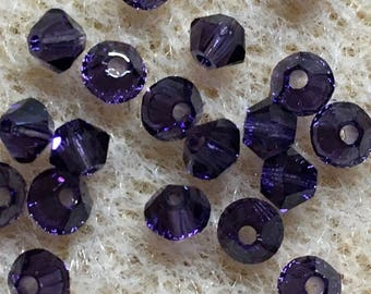 Purple Velvet 5328 Bicone Swarovski Crystal Beads 3mm