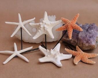 Starfish Bobby Pin Package, starfish bobby pins, mermaid accessories, beach weddings, nautical hair