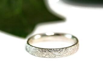Sterling Silver Filigree Band, Everday Ring, Thumb Ring, Stacking Ring, Wedding Band