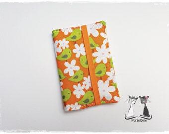 Business Cards-bird-birds-flowers-flower-orange Green Green