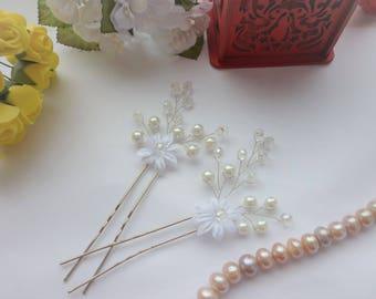 2 Bridal Hair pin,Crystal Hair pin, Wedding Hair Accessories, Bridal Hair Pin, Bridal Hair Accessories, silver hair pin, Hair vine.rose gold