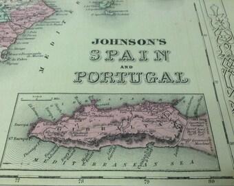 Vintage lisbon map Etsy