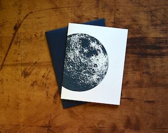 Moon Letterpress Notecard