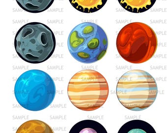 Solar System Edible Image, Solar System Cupcake Cookie Toppers, Solar System Icing Sheets