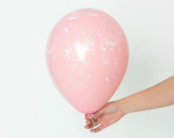 Éclaboussure peinture ballons - Set de 3 ballons de Paint Splatter imprimé personnalisé - ballon rose millénaire lot - ballons Party Chic rose