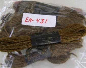 Yarn, Paragon, 100% Wool Crewel Needlepoint, Color #617 Brown, 8.8 Yard Skeins