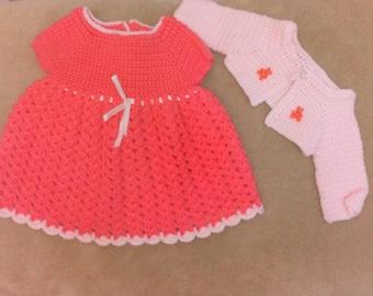 Handmade crochet dress and bolero