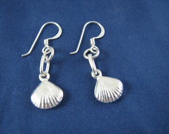 Sterling Silver Seashell Earrings