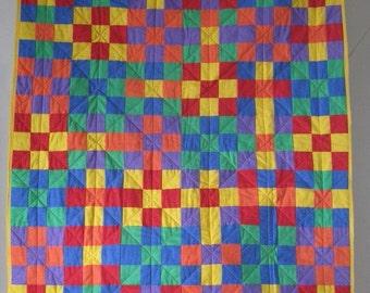 Bright Colours Lap Quilt