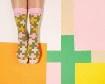 Funky patterned socks