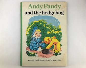Andy Pandy and the Hedgehog, Maria Bird, 1973 Andy Pandy, Andy Pandy book, Andy Pandy, kids lit, 70s childrens book, nursery decor, child