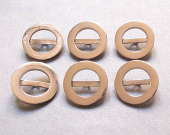 6 buttons round 25 mm silver plated / high quality