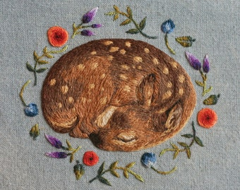 Sleeping Fawn Print