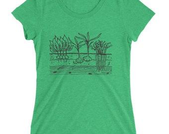 Veggie Garden T-Shirt - Women's FITTED Tri Blend - S, M, L, XL, 2X- Gardening, Veggies, Carrots, Garlic, Homestead, Summer, Outdoors