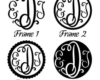FREE SHIPPING**Monogram Decal ... Sticker ... Adhesive decal ... Car decal ... Back to school decal