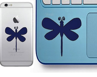 Dragonfly Decal - Glitter Dragonfly - Laptop Decal - Cell Phone Decal - Laptop Sticker - Car Decal - Tumbler Decal