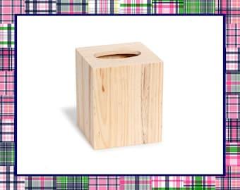 Wood Tissue Box Cover - DIY, Make Your Own, Home Decor, Bathroom Decor