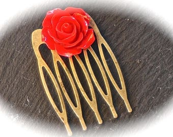 x 10 combs to customize 39x26mm bronze Bobby pin