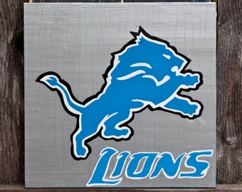 Detroit Lions Acrylic Painting, Detroit Lions, Detroit Lions Baby, Detroit Art, Detroit Michigan, Michigan Art, Michigan Sports