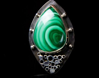 Malachite Ring - Size 6