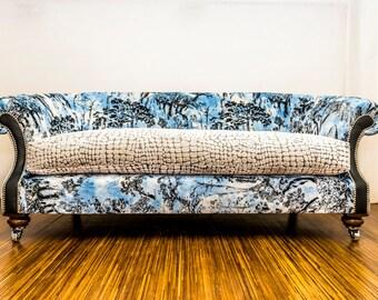 Luxurious Velvet Sofa Handmade in Great Britain