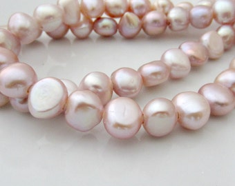 Large Hole Pearls, Baroque Pearls, Nugget Pearls, Freshwater Pearls, Large Pearl, Pink Pearl, 10mm-11mm Pearl, 2mm Hole Pearl 10 Pcs