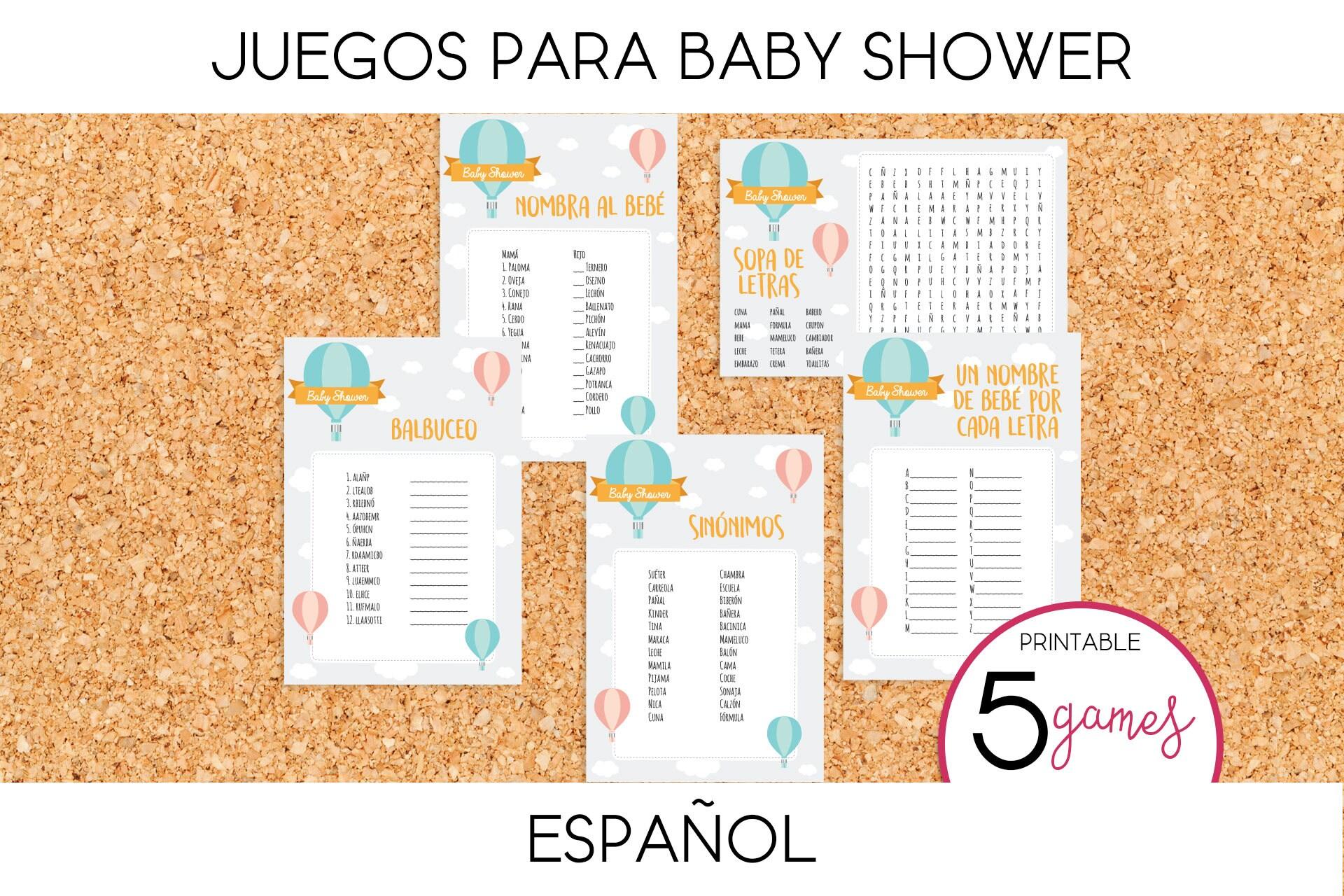 Juegos Para Baby Shower Globo Aerostatico