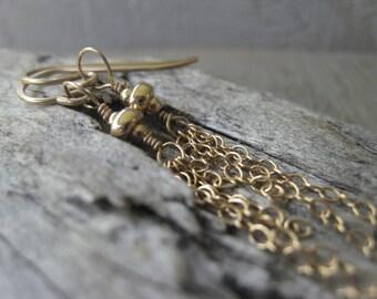 14K Gold Filled Earrings  Statement Earrings Chain Earrings  JE2299