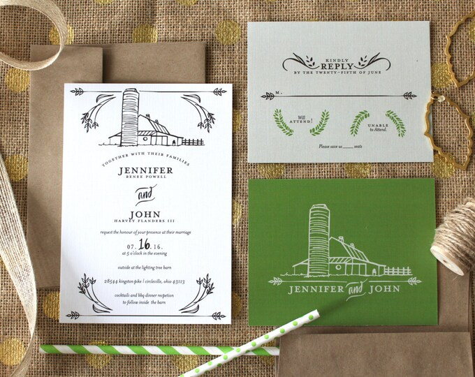PRINTABLE Wedding Invitation Suite | Barnyard Bells